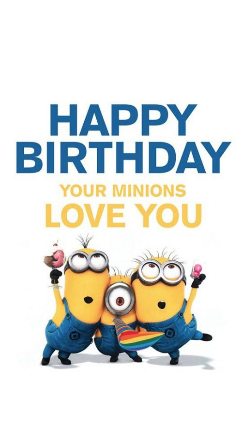 cool birthday message for husband ; 25-Funny-Minions-Happy-Birthday-Quotes-8-Minions-Happy-Birthday-500x889