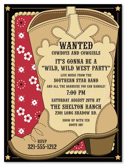 cowboy birthday party invitation wording ; cowgirl-birthday-invitation-wording-cowboy-invitations-template-best-template-collection