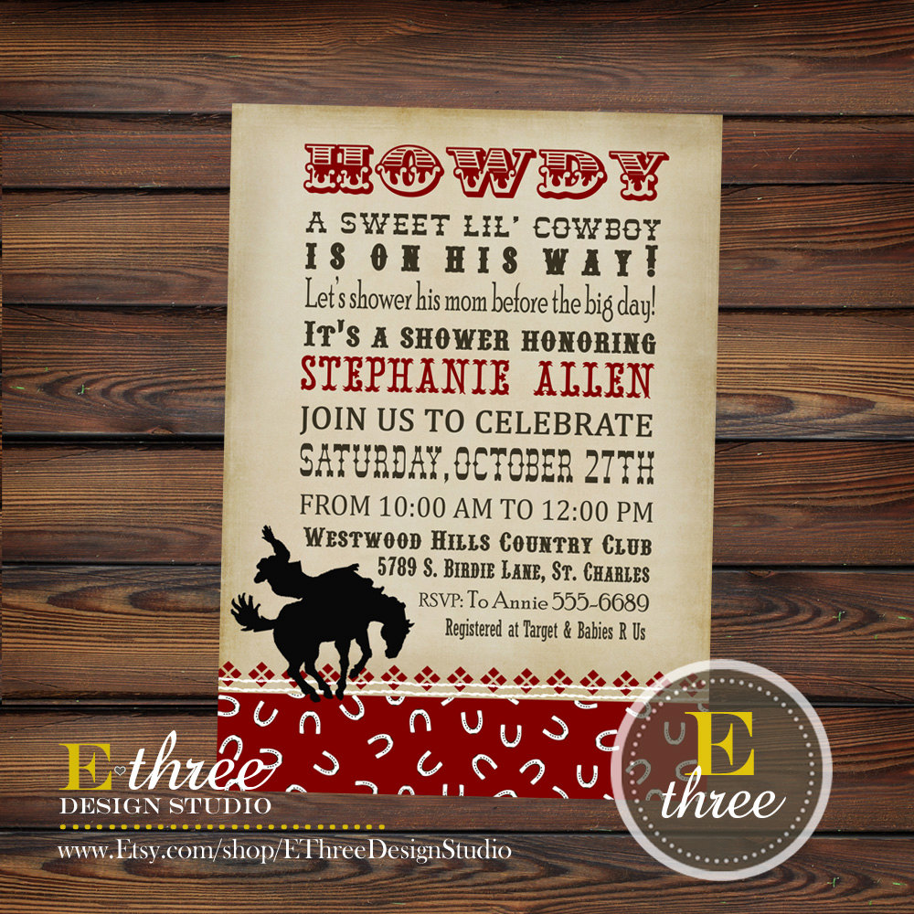 cowboy birthday party invitation wording ; western-sayings-for-invitations-printable-western-baby-shower-invitations