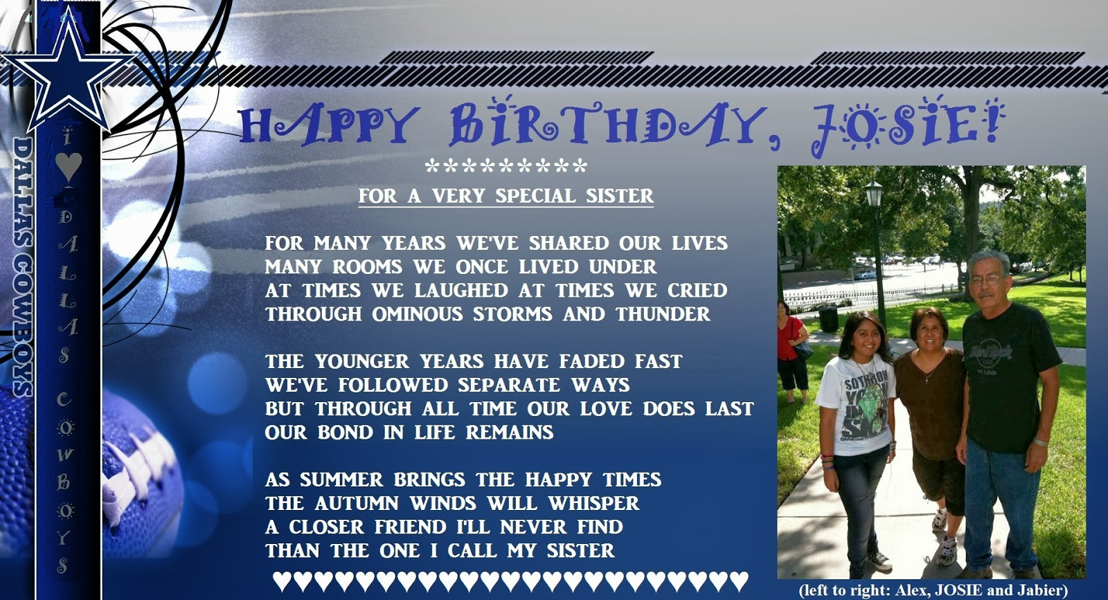 cowboy birthday poem ; Josie+H+2013+Birthday+Sisters+Poem+on+Dallas+Cowboys+Banner