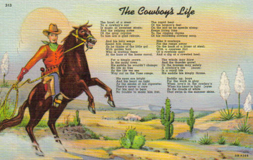 cowboy birthday poem ; cowboylifelk