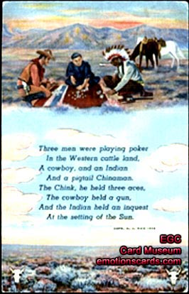 cowboy birthday poem ; playingcardindianpoker