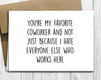 coworker birthday card ; Funny-Coworker-Card-Elegant-Coworker-Birthday-Card