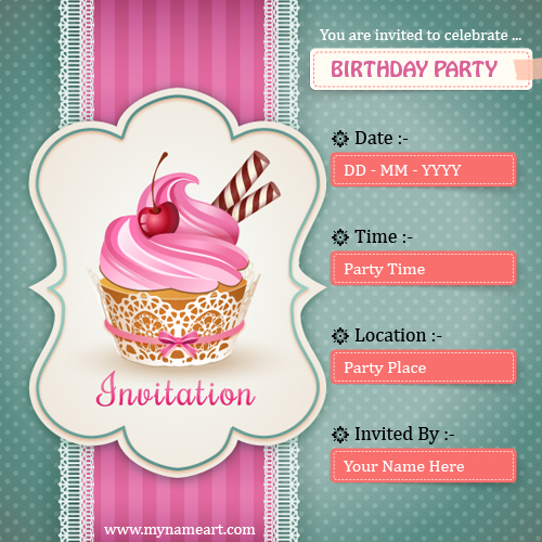 create birthday card with name online free ; birthday-party-invitation-card-demo