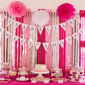 crepe paper design for birthday ; x354-q80