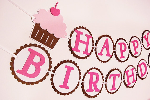 cupcake happy birthday banner ; birthday-banner-ideas-tumblr-awesome-items-similar-to-cute-as-a-cupcake-happy-birthday-banner-of-birthday-banner-ideas-tumblr