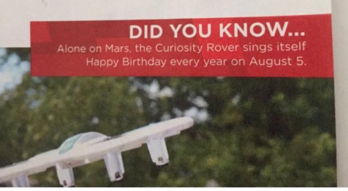 curiosity rover sings happy birthday ; DGfp7HOXcAQCDwo