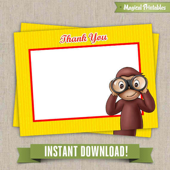 curious george birthday card printable ; Thank-you-labels-Tarjeta15-2