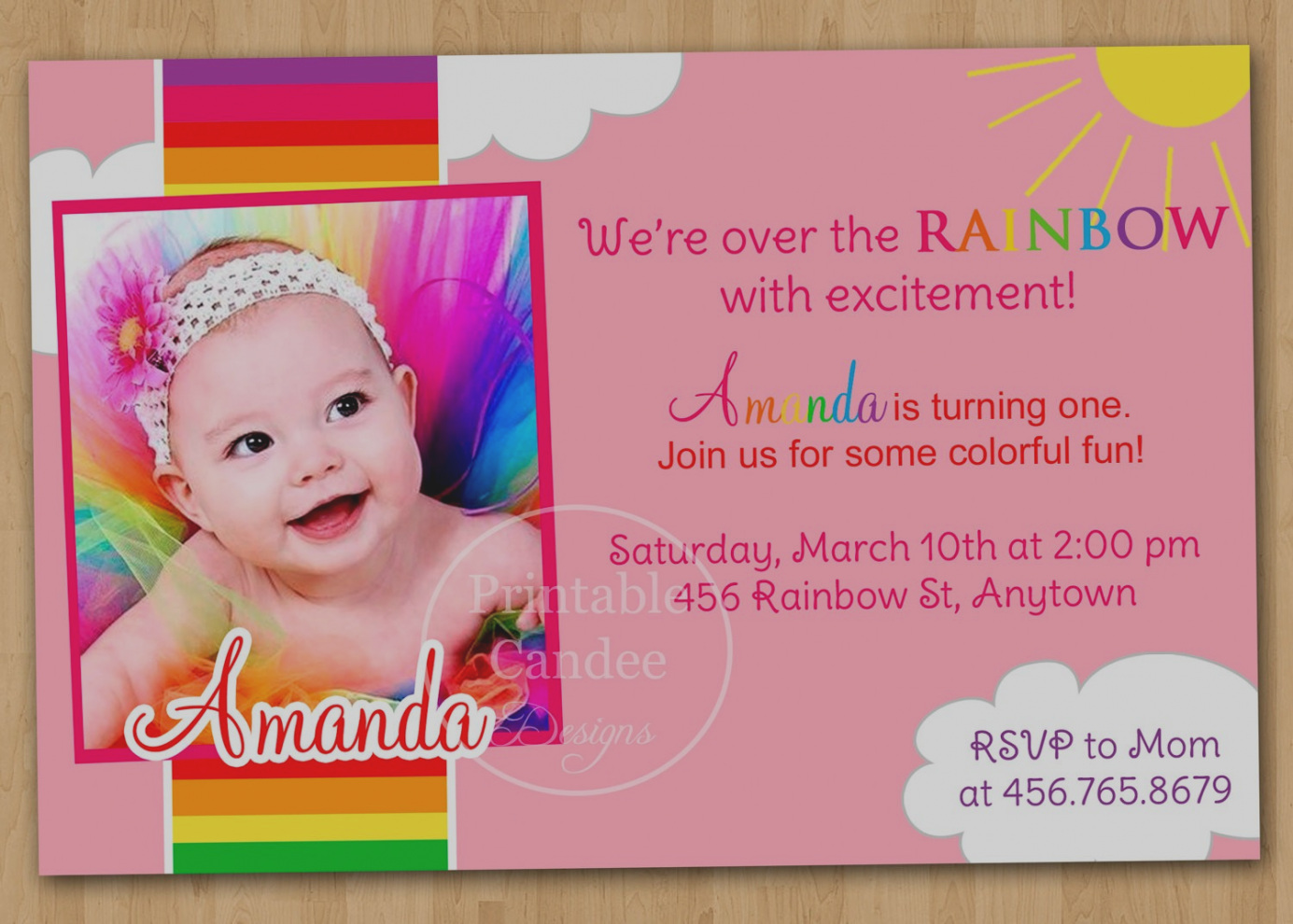 custom photo first birthday invitations ; wonderful-of-custom-1st-birthday-invitations-glamorous-first-to-create-your-own