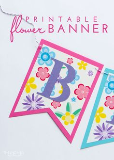 customize your own birthday banner ; 37a8318ae29cc685537f4fdee71fccbc--flower-birthday-banner-free-printable-easter-banner-free