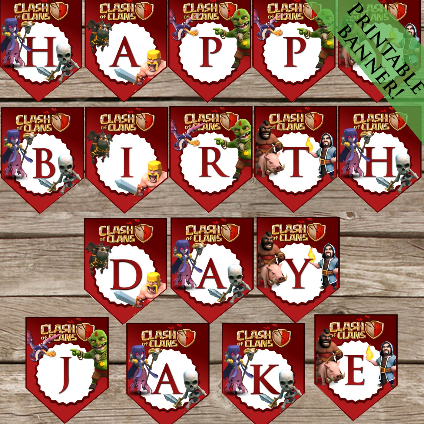 customize your own birthday banner ; design-your-own-birthday-banner-awesome-personalized-clash-of-clans-birthday-banner-printable-party-of-design-your-own-birthday-banner