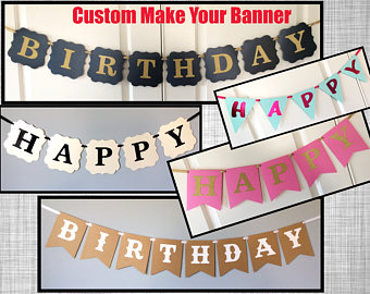 customize your own birthday banner ; il_340x270