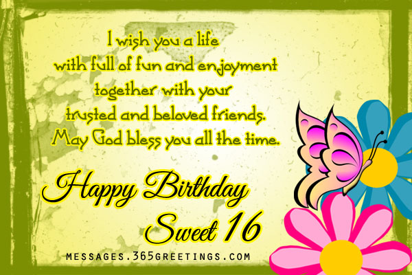 cute birthday message for best friend tagalog ; 16th-birthday-wishes