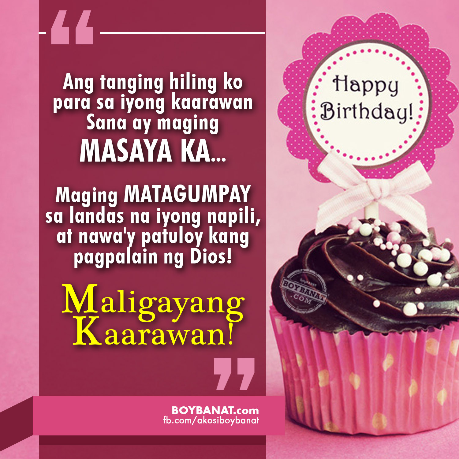 cute birthday message for best friend tagalog ; Birthday%252BQuotes%252BBoyBanat_com