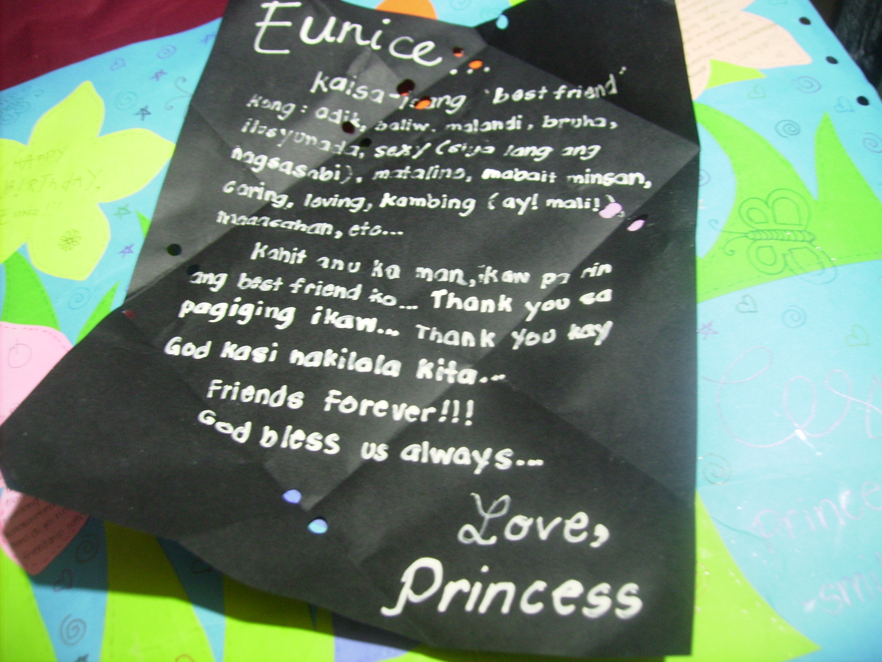 cute birthday message for best friend tagalog ; pict1291
