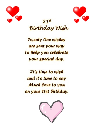 cute birthday rhymes ; funny-21-birthday-poem