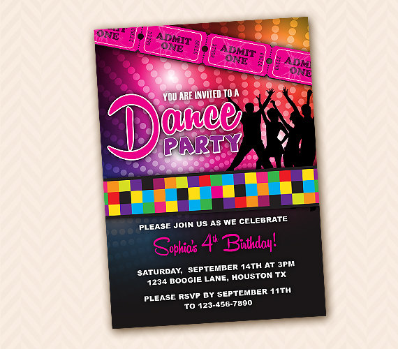 dance birthday party invitation templates ; astonishing-dance-party-invitations-templates-ideas-which-you-need-to-make-surprise-party-invitations