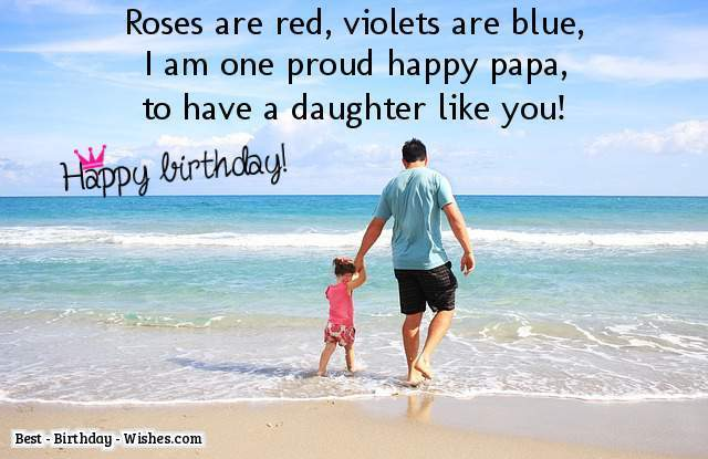 daughter birthday message to her father ; message-from-father-to-daughter-on-her-birthday-59f6569c1800001500d5a03d