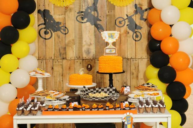decoration themes for birthday parties ; boys-dirt-bike-themed-birthday-party-table-decoration-ideas