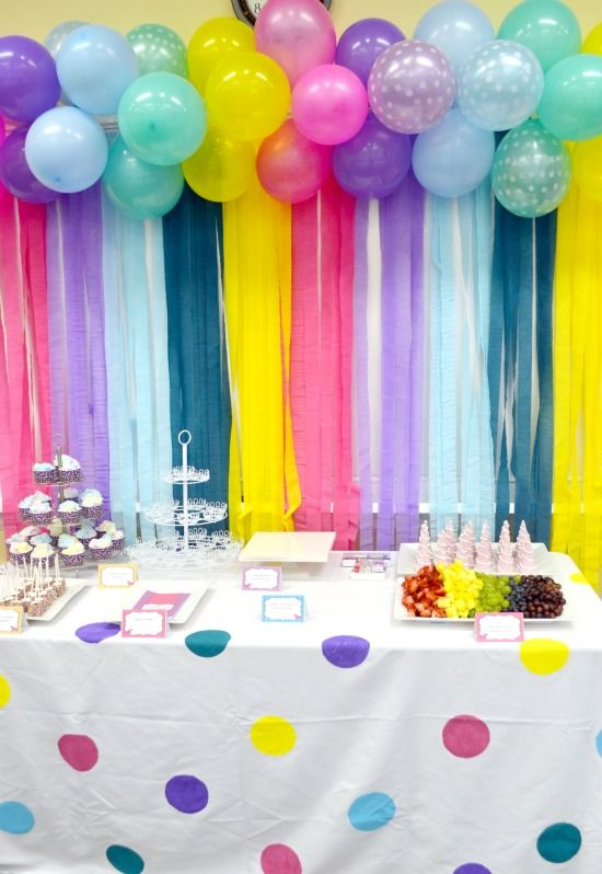 decoration themes for birthday parties ; exquisite-bday-party-decoration-10-plastic-table-cloths-tables