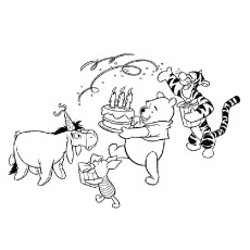 disney birthday coloring pages ; Disney-Winnie-Pooh-Birthday-Celebrations-with-all-the-friends