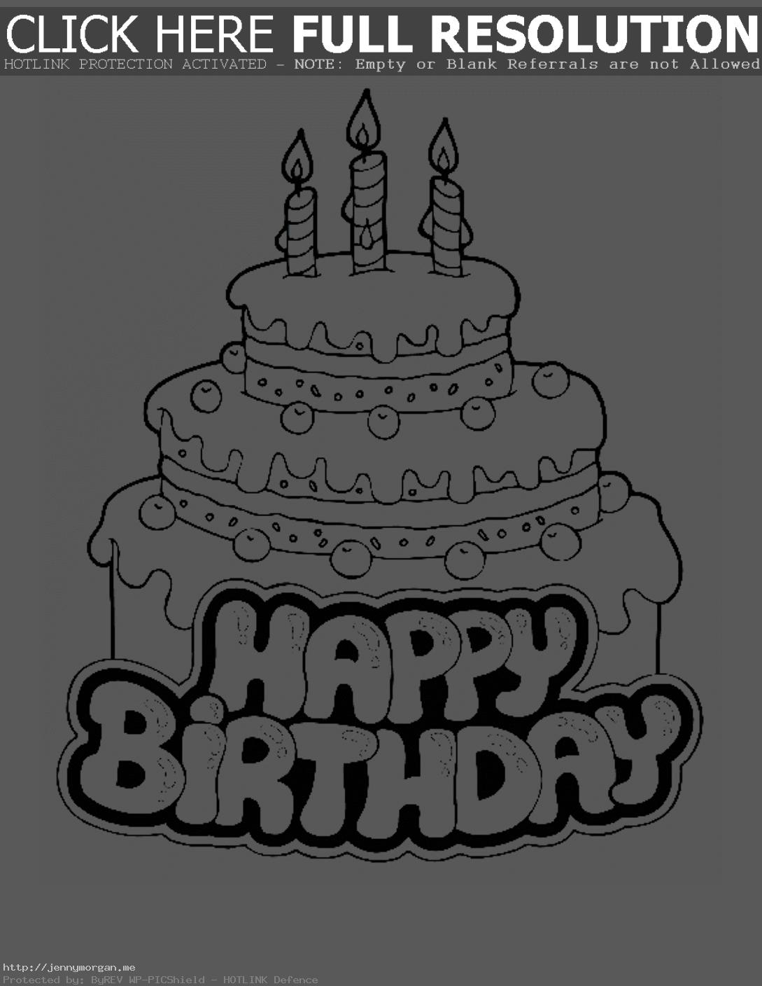 disney birthday coloring pages ; birthday-coloring-pages-to-print-3-4231-throughout-page-7