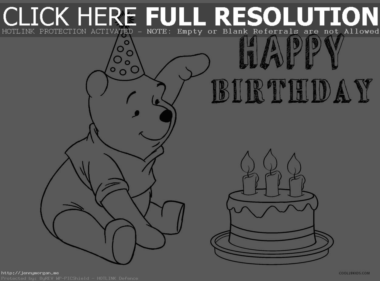 disney birthday coloring pages ; disney-birthday-cake-coloring-page-winnie-the-pooh-pages-0