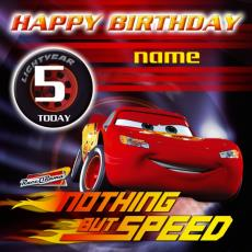 disney cars happy birthday card ; 02108PC