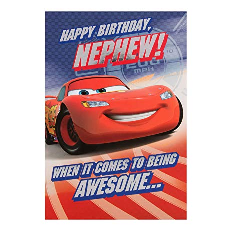 disney cars happy birthday card ; 91hlulvaw0L