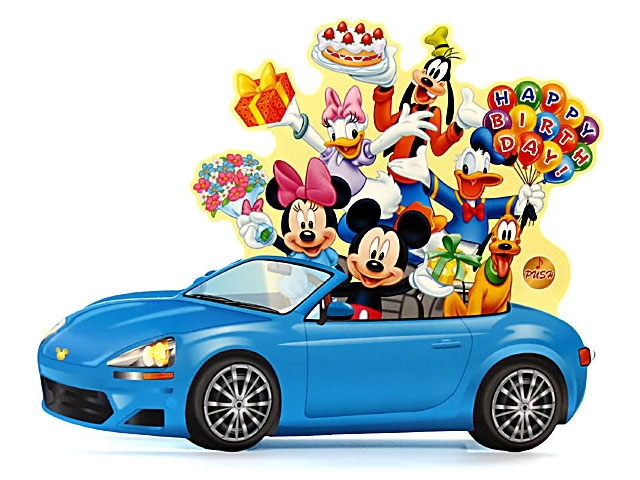 disney cars happy birthday card ; LMC38-21400810593