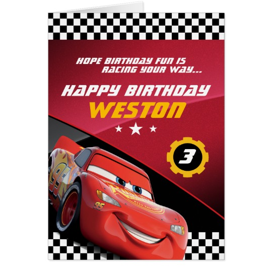 disney cars happy birthday card ; cars_lightning_mcqueen_folded_birthday_card-reaab6549ed3f42d580c213bde6a97e9b_xvuat_8byvr_540