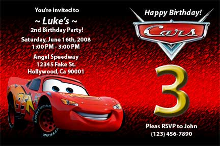 disney cars happy birthday card ; disney-cars-invitations