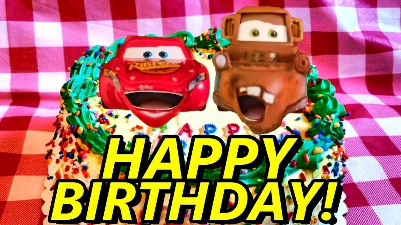 disney cars happy birthday card ; maxresdefault