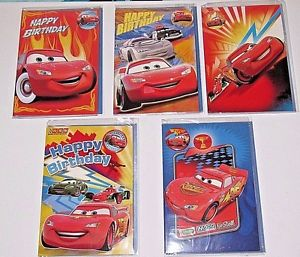 disney cars happy birthday card ; s-l300
