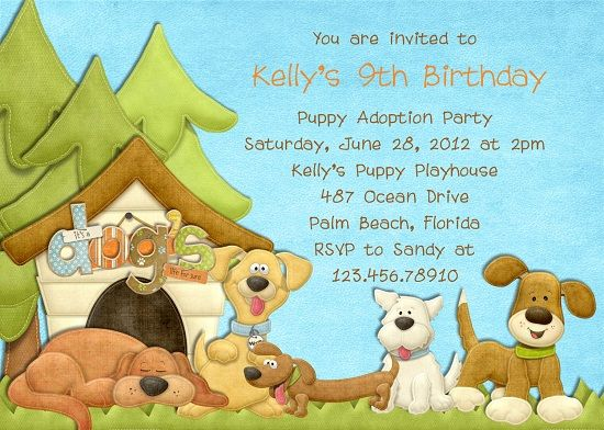dog birthday invitations free printable ; 0ef56342a263ca51fe8132d88ac5a49c