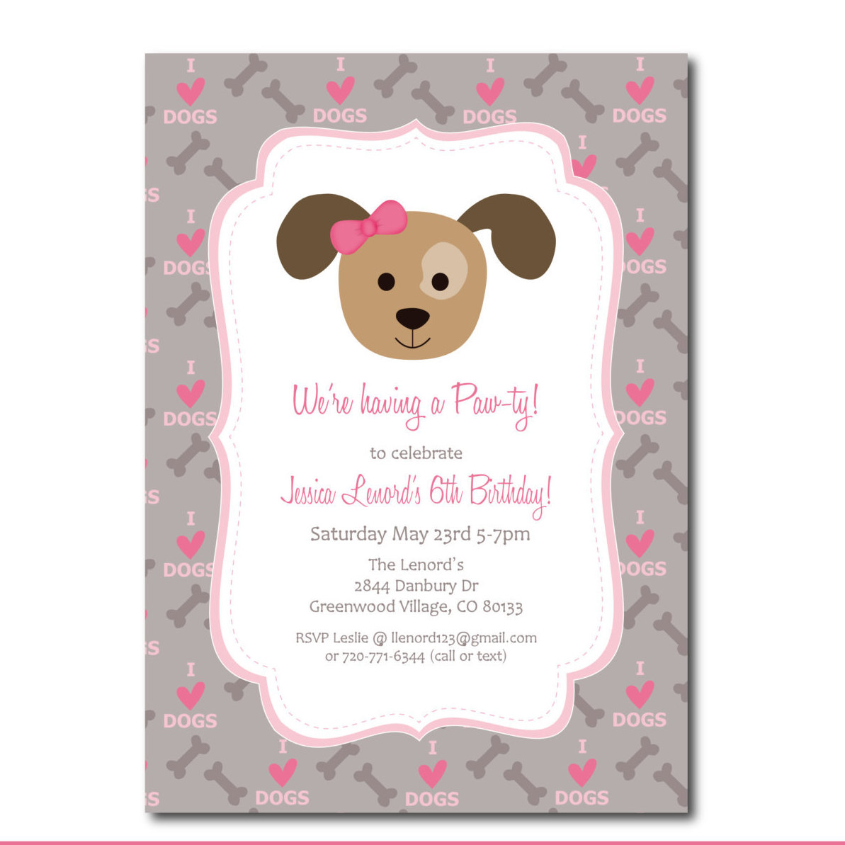 dog birthday invitations free printable ; dog-birthday-party-invitations-and-new-Party-Invitation-Template-for-best-invitation-template-44