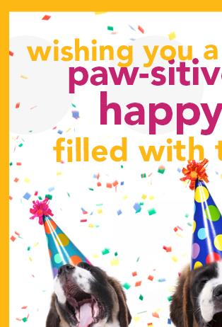 dog birthday poem ; 1