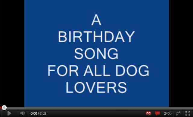 dog birthday poem ; B-day-Song