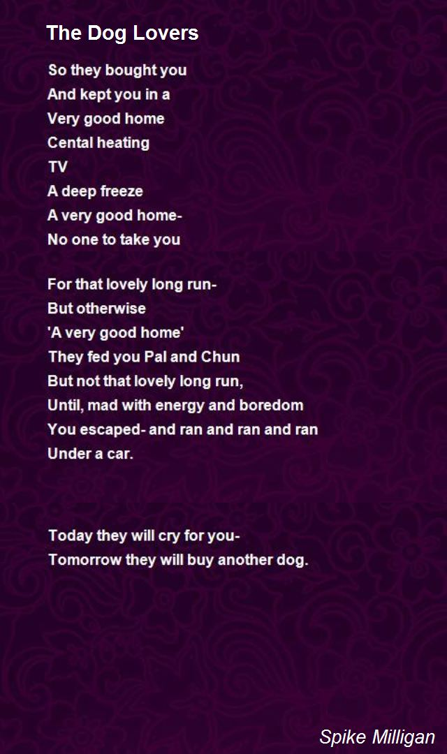 dog birthday poem ; the-dog-lovers