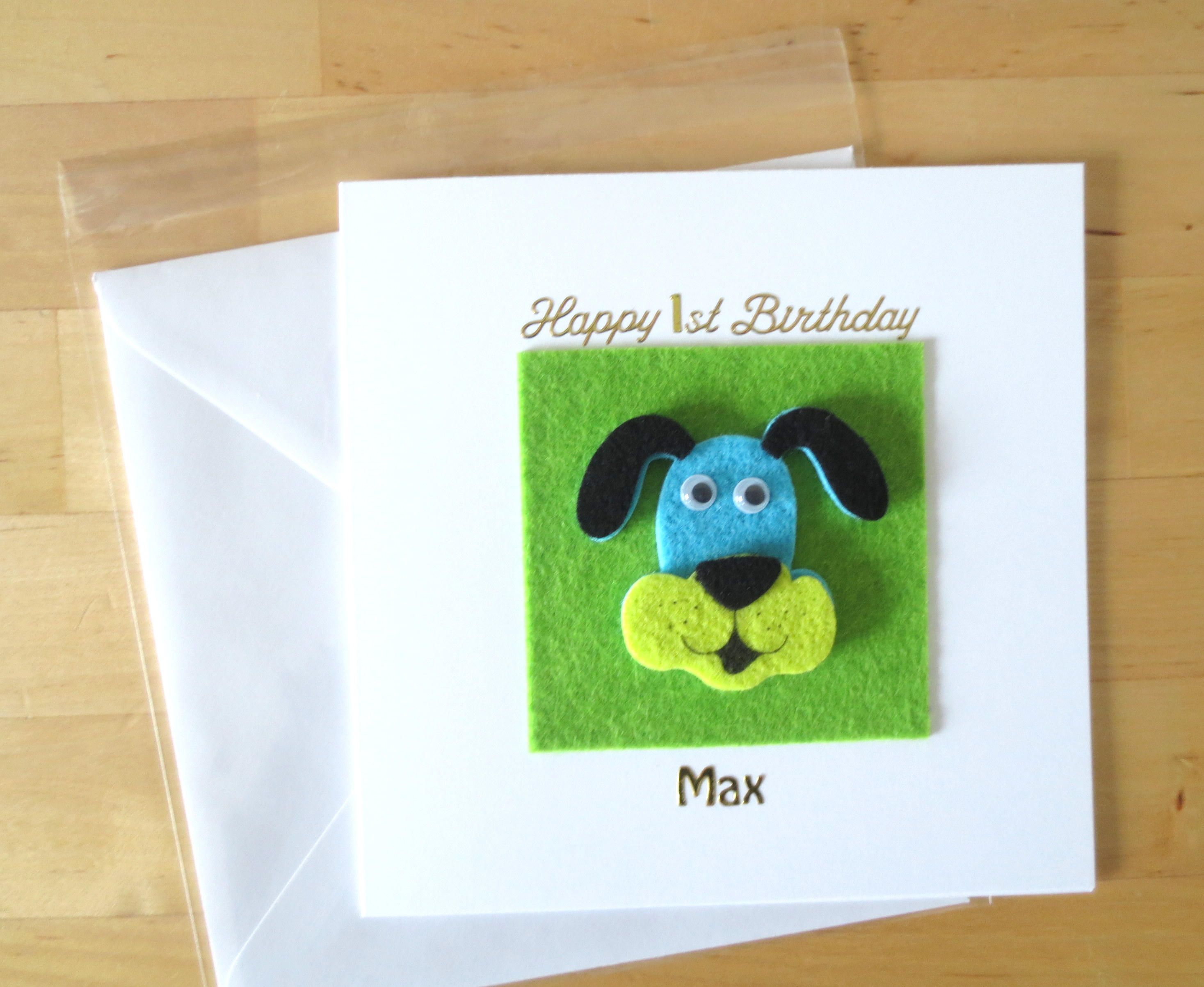 dogs first birthday card ; 2c1d303998c4ca6367c294a63a28c8f5