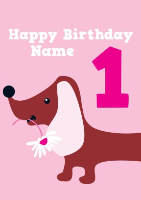 dogs first birthday card ; 981_front