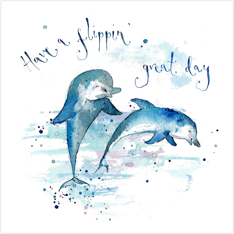 dolphin birthday card ; buy_dolphin_birthday_card_online_unisex_child_for_him_her_gender_neutral_birthday_cards_with_sea_animals_dolphins_flippin_great_day_card_grande