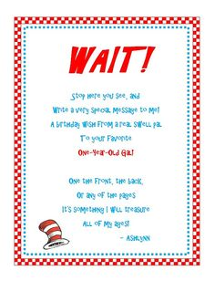 dr seuss first birthday poem ; 22f3c6f19e792ff96e1a6805ffa95484--hat-party-book-signing