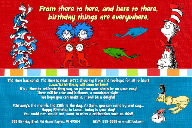 dr seuss first birthday poem ; Wording-Dr-Seuss-Birthday-Invitations