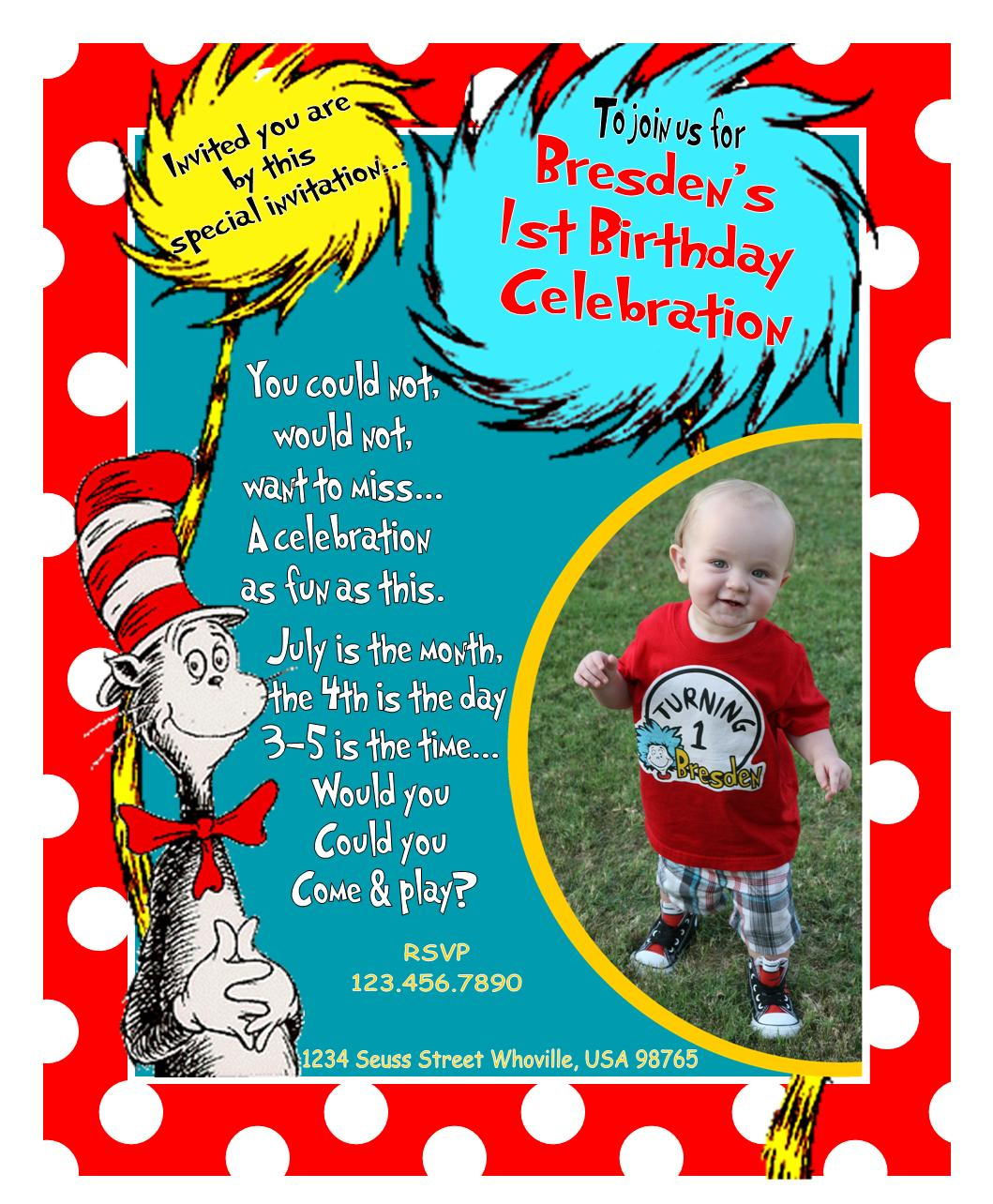 dr seuss first birthday poem ; how-to-dr-seuss-1st-birthday-invitations-free-with-smart-design
