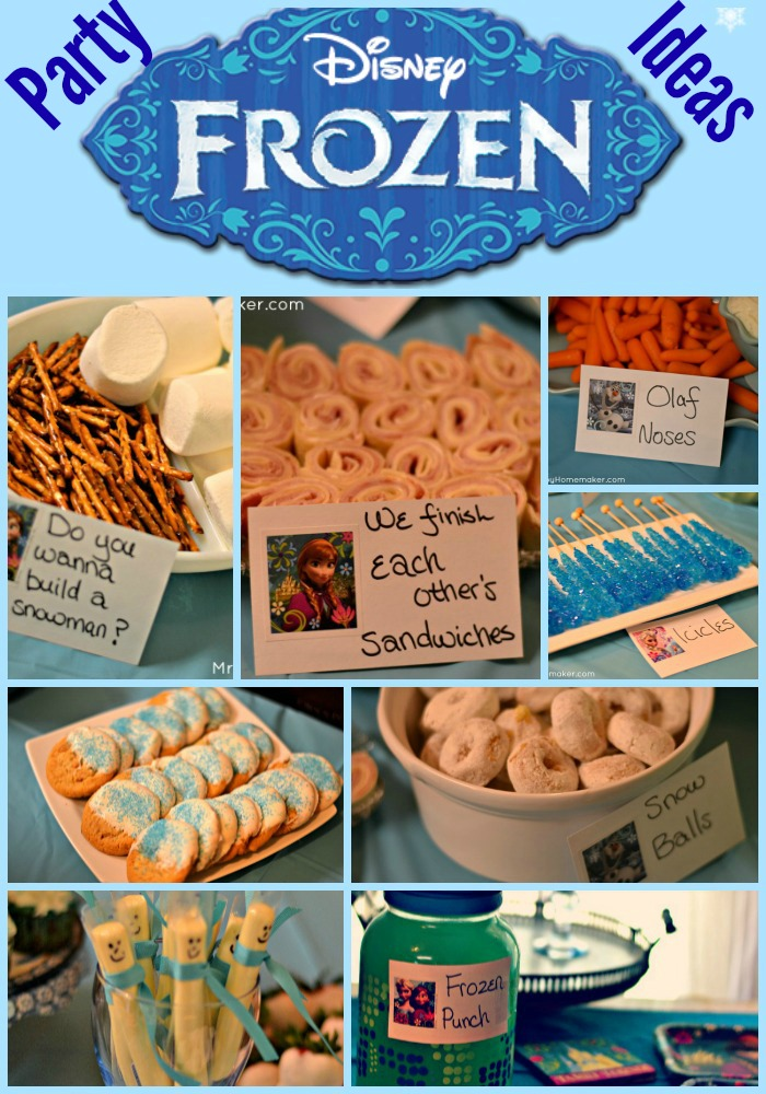 easy birthday party ideas ; frozenparty
