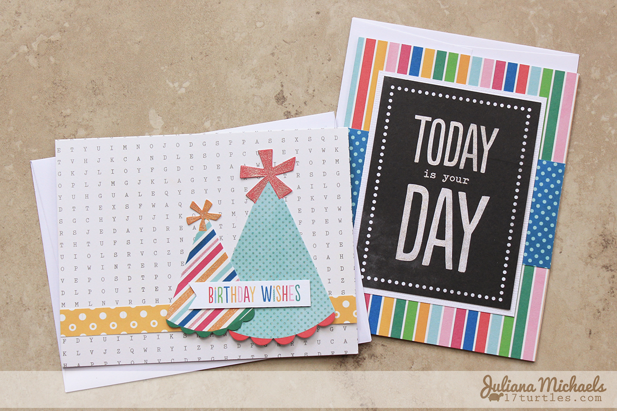 easy card making ideas for birthday ; Quick_And_Easy_Birthday_Cards_Juliana_Michaels_Pebbles_Inc_Birthday_Wishes_01