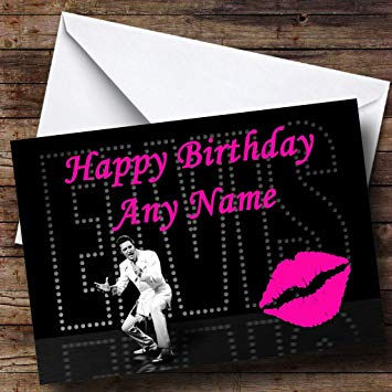 elvis presley personalised birthday card ; 71U5ER-AMUL