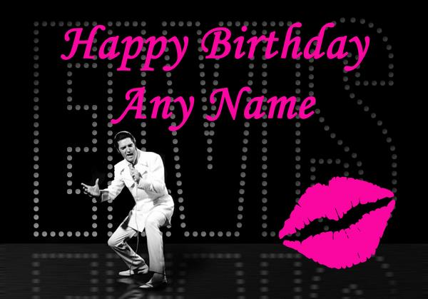 elvis presley personalised birthday card ; elvis-presley-birthday-card-463-p