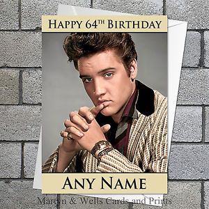 elvis presley personalised birthday card ; s-l300-1